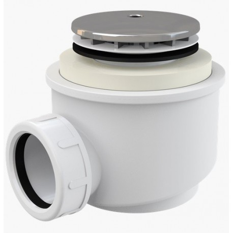 Сифон для душевого поддона Alcaplast A47CR диаметр 50 хром