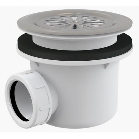 Сифон для душевого поддона Alcaplast A48 диаметр 90 с нержавеющей peшeткой