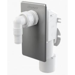 Сифон для стиральной машины Alcaplast APS3 под штукатурку, хромированный