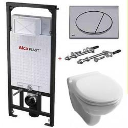 Комплект инсталляции Alcaplast AM101/1120+M71+унитаз с сидением