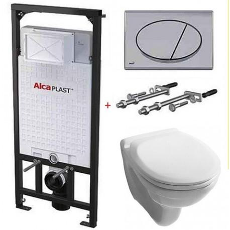 Комплект инсталляции Alcaplast A101/1200+M71+унитаз с сидением