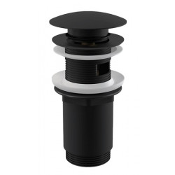Донный клапан для раковины Alcaplast CLICK-CLAK A392BLACK - черный матовый