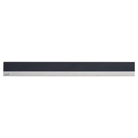 Решетка для желоба Alcaplast MINERAL PUSH камень черный-нерж. сталь матовая для APZ6