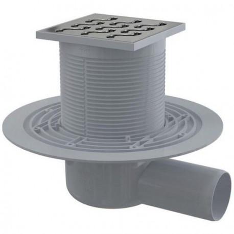 Сливной трап Alcaplast APV102 105x105/50 выпуск боковой, гидрозатвор