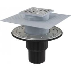 Сливной трап Alcaplast APV4344 105x105/50/75 выпуск прямой, гидрозатвор + сухой