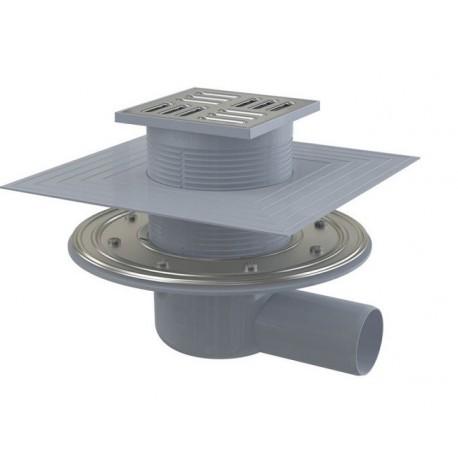 Сливной трап Alcaplast APV1324 105x105/50 выпуск боковой, гидрозатвор комбинированный
