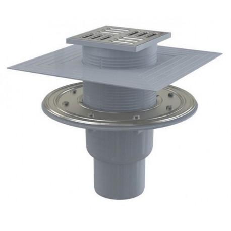 Сливной трап Alcaplast APV2324 105x105/50/75 выпуск прямой, гидрозатвор комбинированный