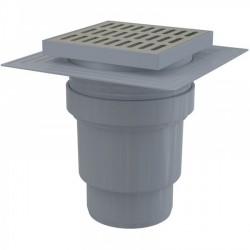 Сливной трап Alcaplast APV13 150x150/110 выпуск прямой, гидрозатвор